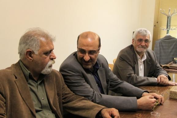 از راست:  مصطفی ذاکری، محمدعلی کاظم بیکی و جمشید کیانفر