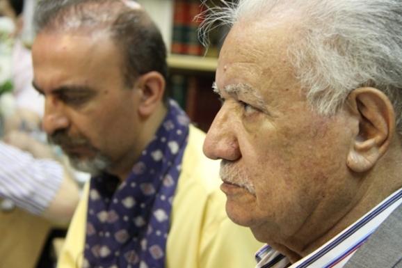 از راست: عباس ماهیار و فرزاد ضیایی حبیب آبادی