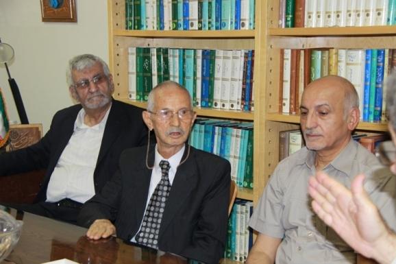 از راست: قاسم صافی، محمد حسن ابریشمی و مصطفی ذاکری