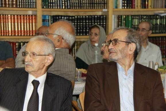 از راست: نجفقلی حبیبی و محمدحسن ابریشمی