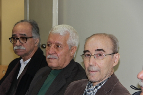 از راست: علی اشرف صادقی، توفیق سبحانی و محمود عابدی