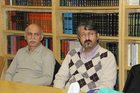 از راست: اکبر ایرانی و زنده یاد محسن جعفری مذهب